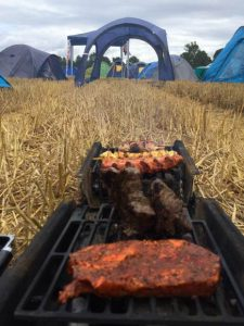 Grill auf Festival